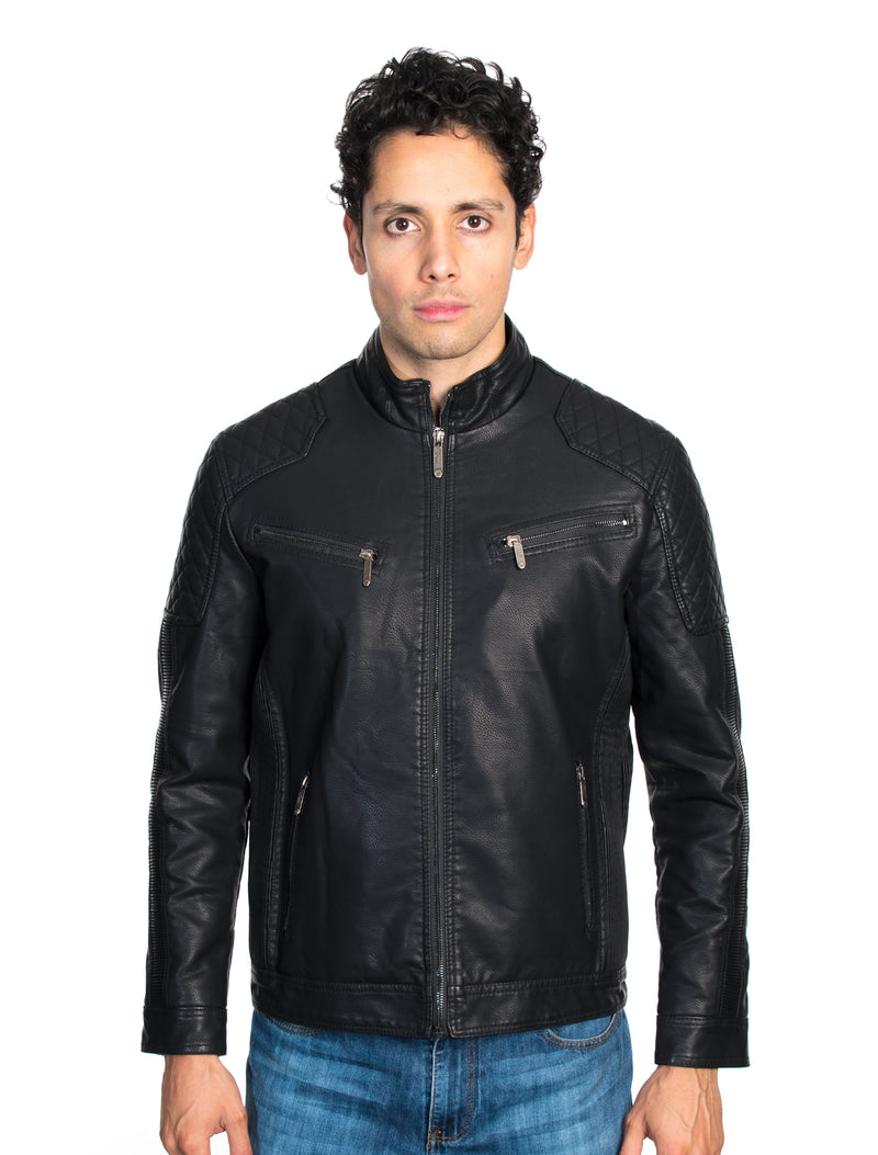ABPF-19 BLACK PLEATHER JACKET 6PK