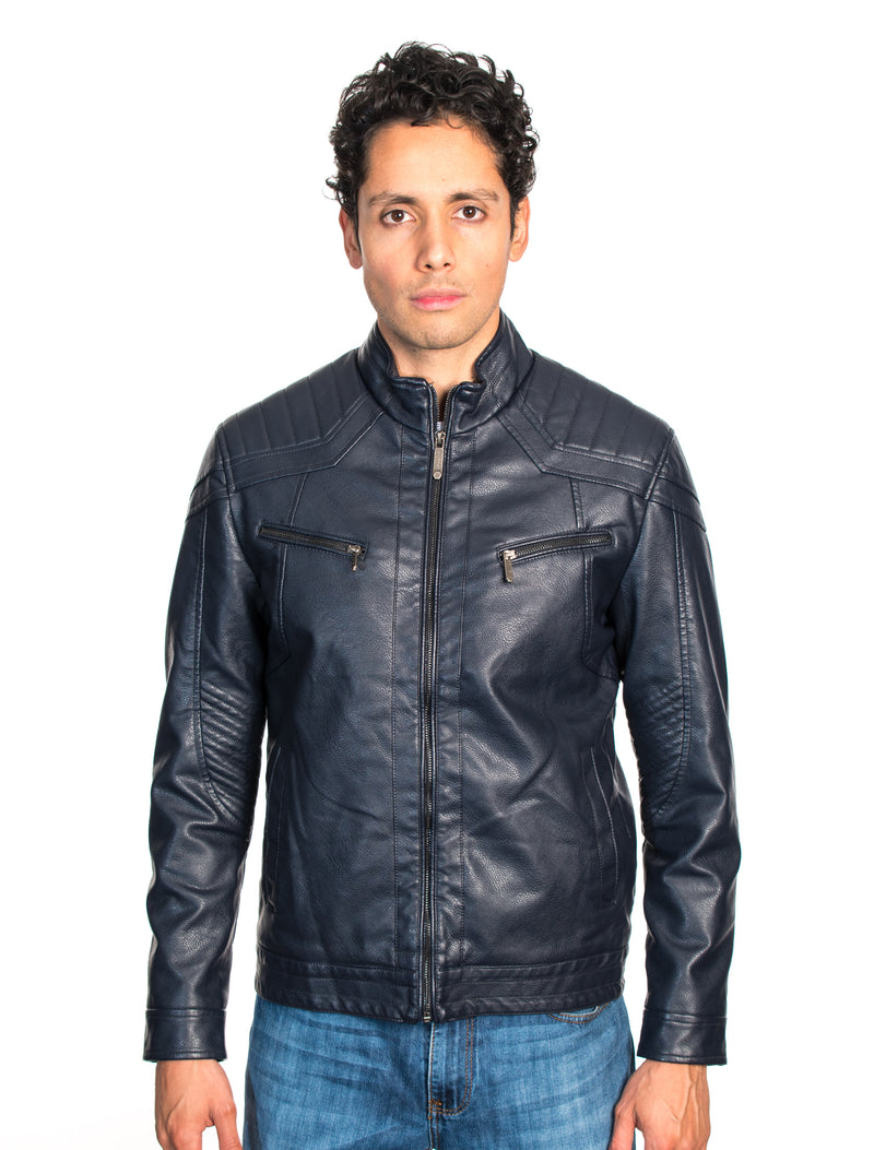 ABPF-21 NAVY PLEATHER JACKET 6PK
