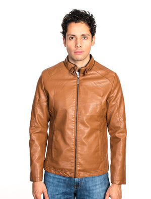 ABPF-25 CAMEL PLEATHER JACKET 6PK