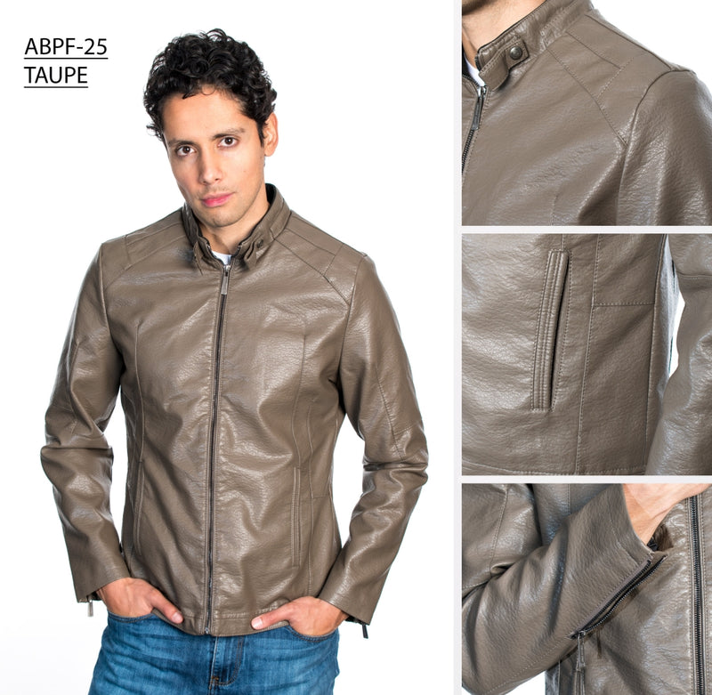 ABPF-25 TAUPE PLEATHER JACKET 6PK