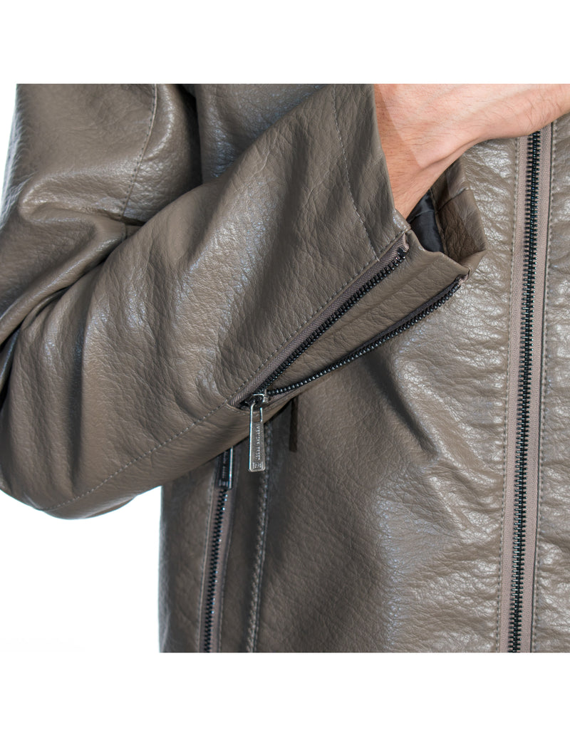 ABPF-27 TAUPE PLEATHER JACKET 6PK