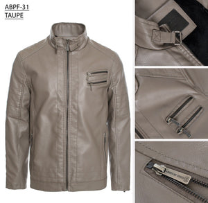 ABPF-31 TAUPE PLEATHER JACKET 6PK
