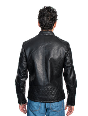 ABPF-33 BLACK PLEATHER JACKET 6PK