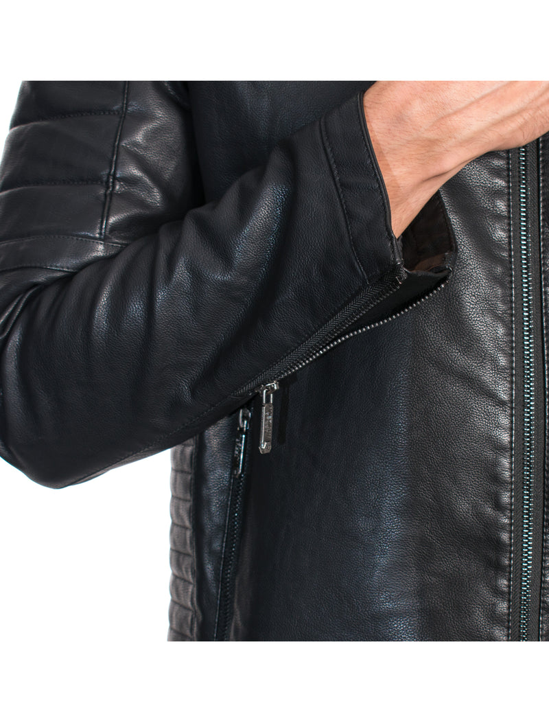 ABPF-35 BLACK PLEATHER JACKET 6PK