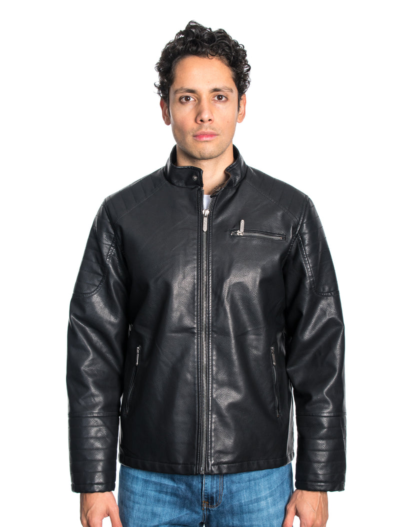 ABPF-39 BLACK PLEATHER JACKET 6PK