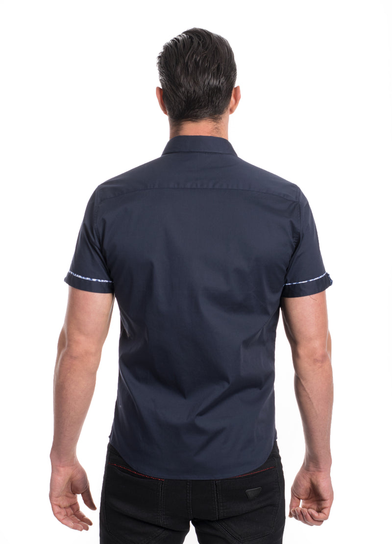 ABSK-2020-NAVY  SOLID STRETCH SHIRT 6PK