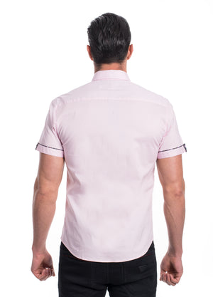 ABSK-2020-PINK  SOLID STRETCH SHIRT 6PK