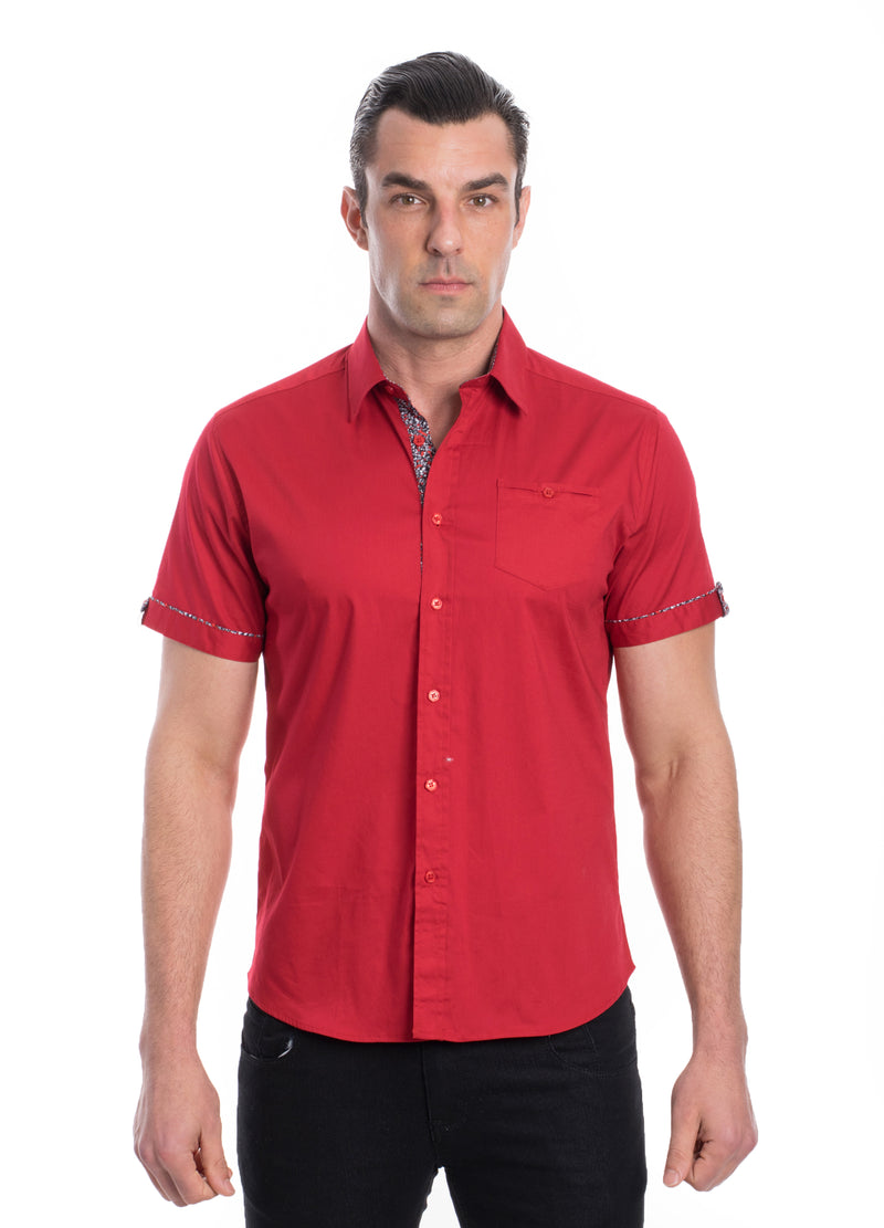 ABSK-2020-RED  SOLID STRETCH SHIRT 6PK