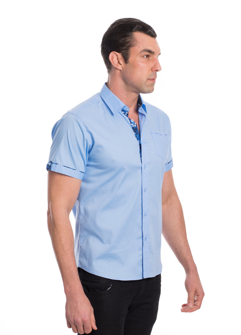 ABSK-2020-SKY BLUE  SOLID STRETCH SHIRT 6PK