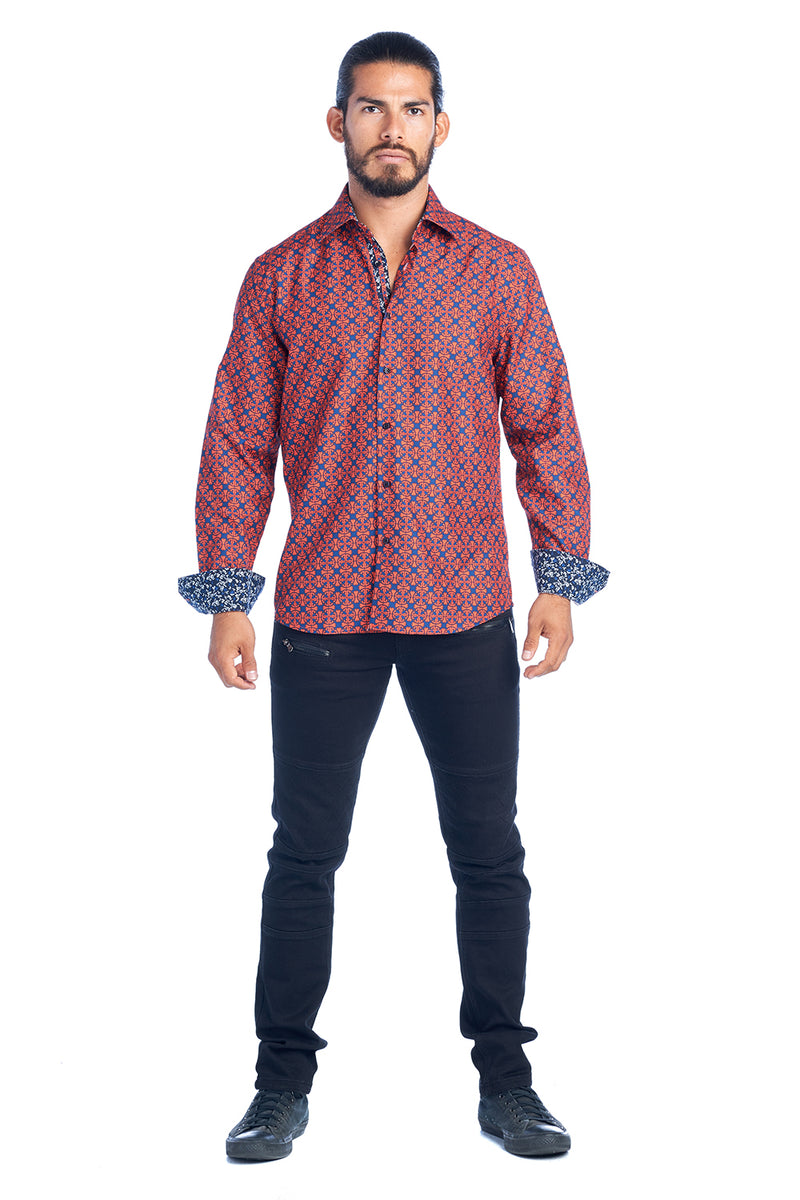 DKL-1 RED & BLUE ELEGANT FASHION SHIRT 6PK