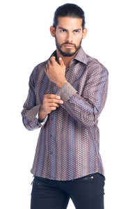 MEN'S BROWN ELEGANT FASHION SHIRT | HARD SODA DKL-20