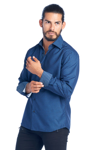 MEN'S ROYAL BLUE ELEGANT FASHION SHIRT | HARD SODA DKL-6