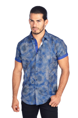 MEN'S BLUE FIREWORK PRINT DESIGN MODERN EXCLUSIVE | HARD SODA DKS-10 BLUE