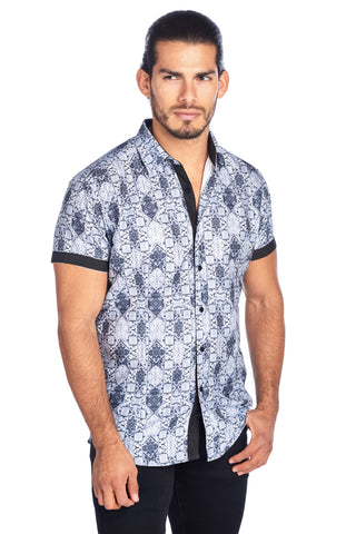 MEN'S GREY FADED SHAPES PRINT MODERN EXCLUSIVE | HARD SODA DKS-21