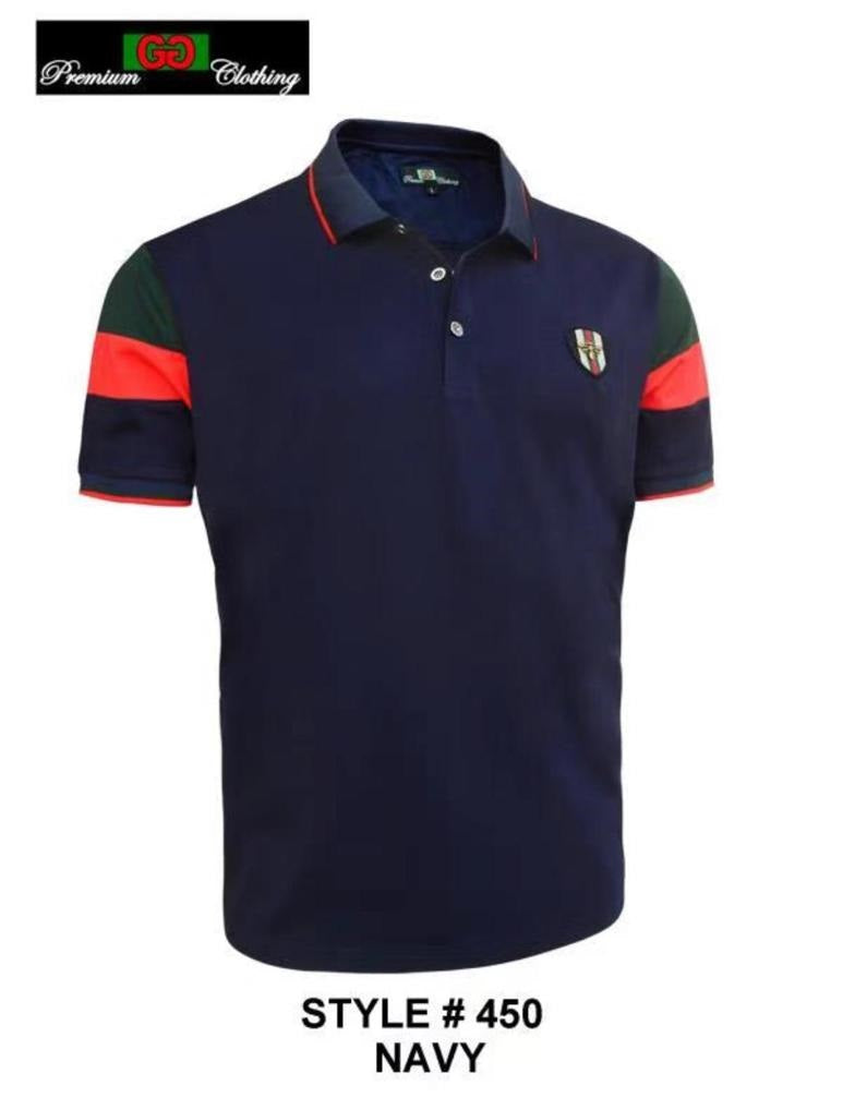 GG-450-NAVY STRETCH POLO SHIRT - 6 PACK