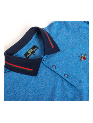 GG-1914-ROYAL SOLID POLO CONTRAST COLLAR 6PK