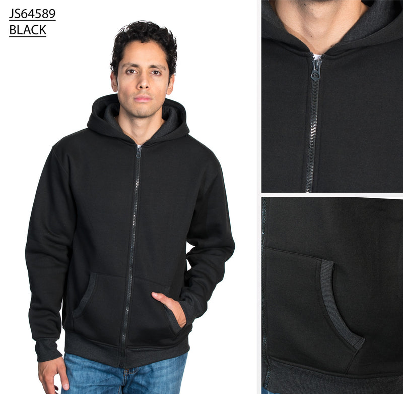 JS64589 BLACK FLEECE HOODIES 12 Pack