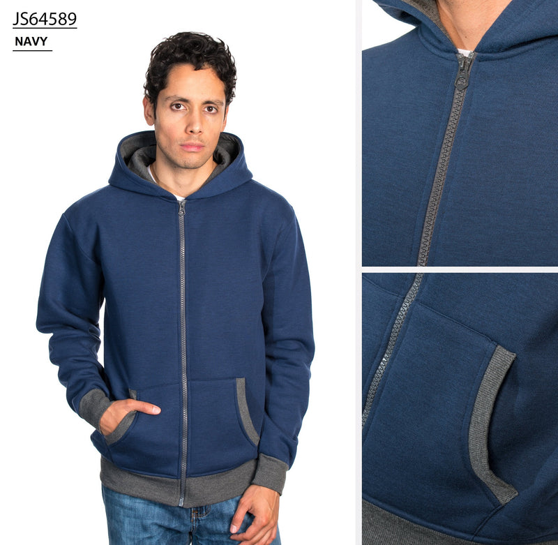 JS64589 NAVY FLEECE HOODIES 24Pk