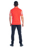 MEN'S RED FANCY POLO SHIRT | AMERICAN BREED MDP-143 RED