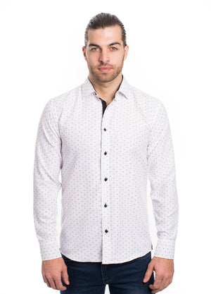 SS192-257L WHITE PRINTED SHIRT 6PK