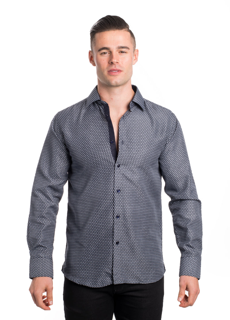 SS192-263L BLACK PRINTED SHIRT 6PK