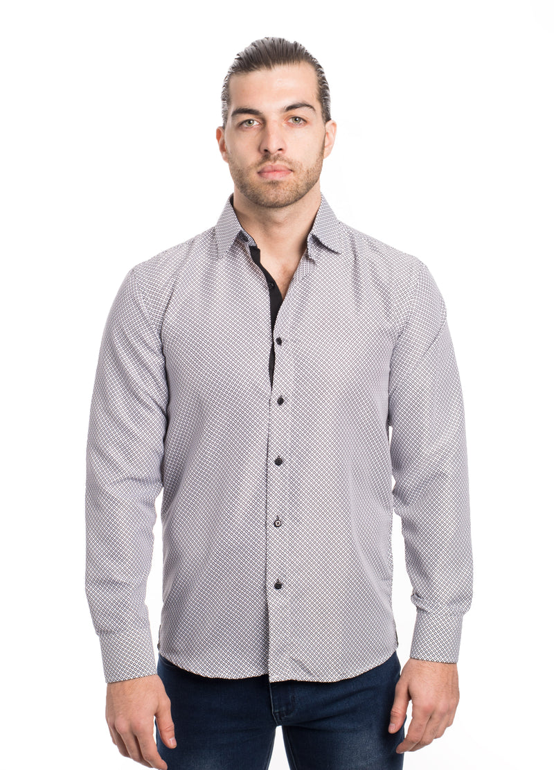 SS192-264L  WHITE PRINTED SHIRT 6PK