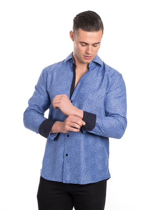 SS192-286L BLUE PRINTED SHIRT 6PK