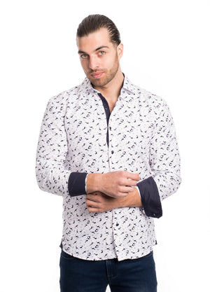 SS192-293L  WHITE PRINTED SHIRT 6PK