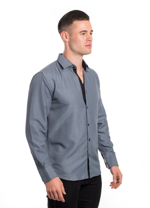 SS192-74L GREY  PRINTED LONG SLEEVE SHIRT 6PK