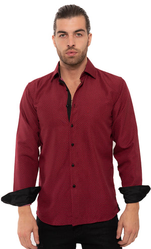SS192-75L  RED PRINTED LONG SLEEVE SHIRT 6PK