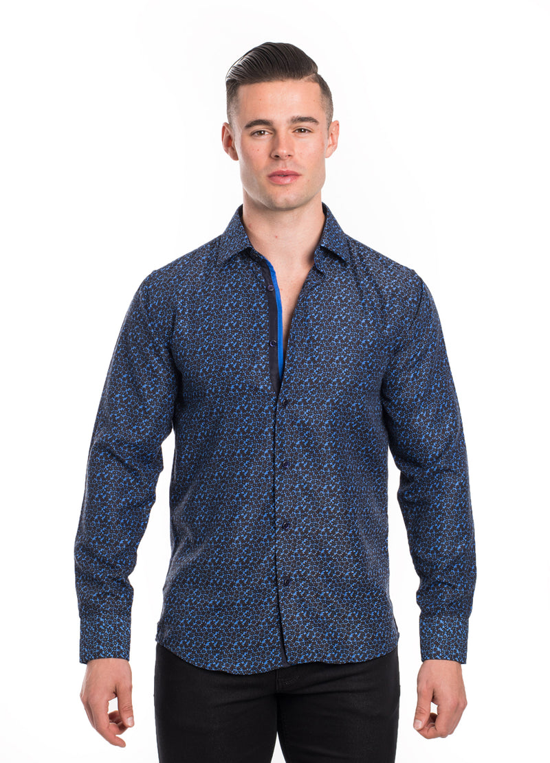 SS192-82L AZURE PRINTED LONG SLEEVE SHIRT 6PK