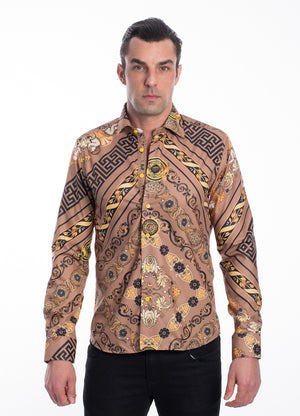 TK-01-F BROWN PROMOTION $10.50 PRINTED SHIRT 12PK