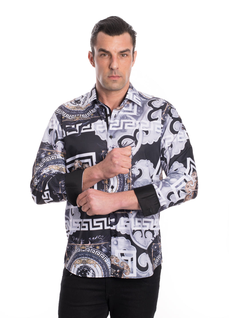 TK-45 BLACK PRINTED SHIRT 12PK