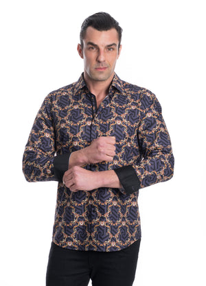 TK-50 BLACK PRINTED SHIRT 6PK