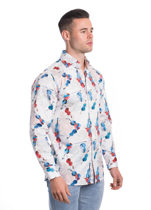 VDP19-007L  MEN'S PRINTED SHIRT 6PK