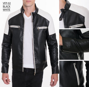 VFP-02 BLACK/WHITE PLEATHER JACKET 8PK