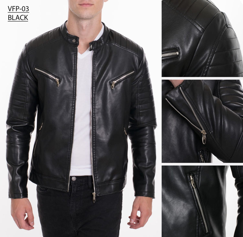 VFP-03 BLACK PLEATHER JACKET 8PK