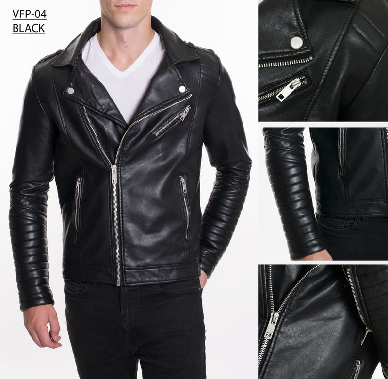 VFP-04 BLACK PLEATHER JACKET 4PK