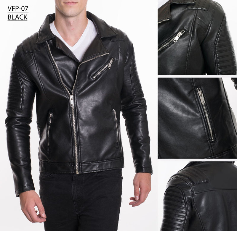 VFP-07 BLACK PLEATHER JACKET 4PK