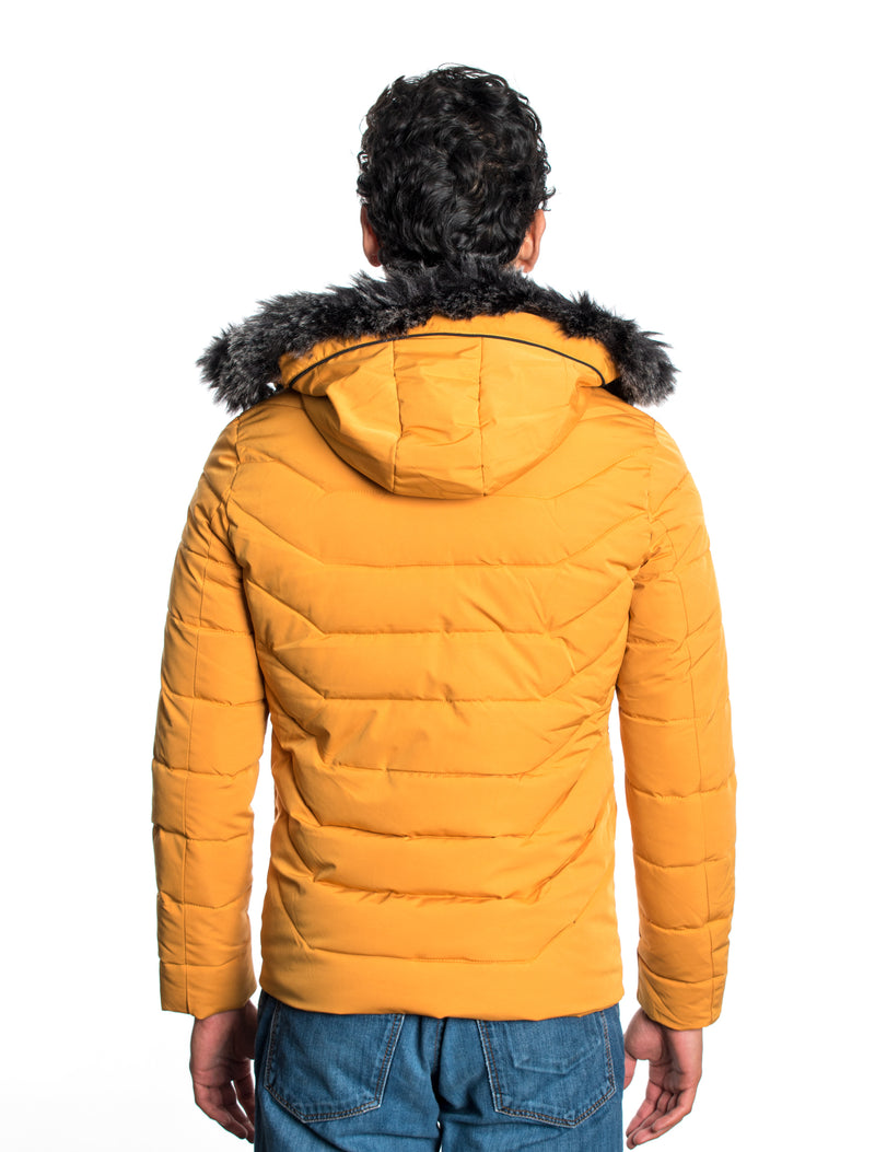VPJ-04 CAMEL MENS PUFF JACKET WITH DETACHABLE HOOD 6PK