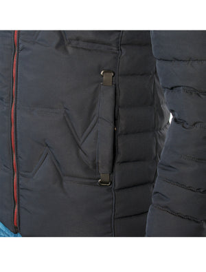 VPJ-07 NAVY MENS PUFF JACKET WITH DETACHABLE HOOD 6PK
