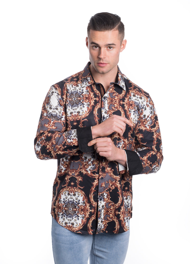 VPMS-108  MEN'S PRINTED SHIRT 6PK