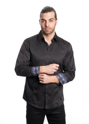 VSLK 2020-BLACK- SOLID STRETCH SHIRT 6PK