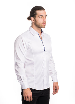 VSLK-2020-WHITE SOLID STRETCH SHIRT 6PK