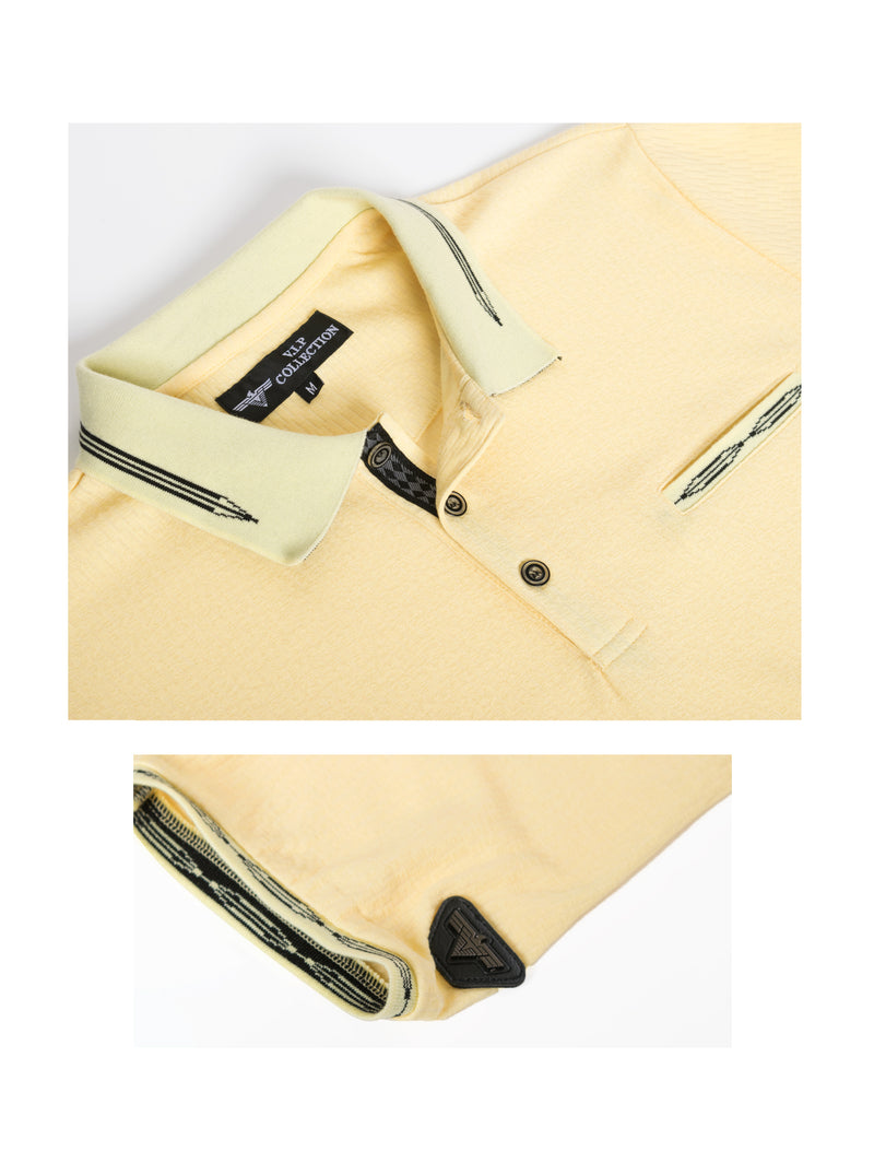 VSP-2021-YELLOW SOLID POLO 6PK