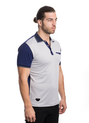 VSP2022-NAVY SOLID MESH POLO 6PK