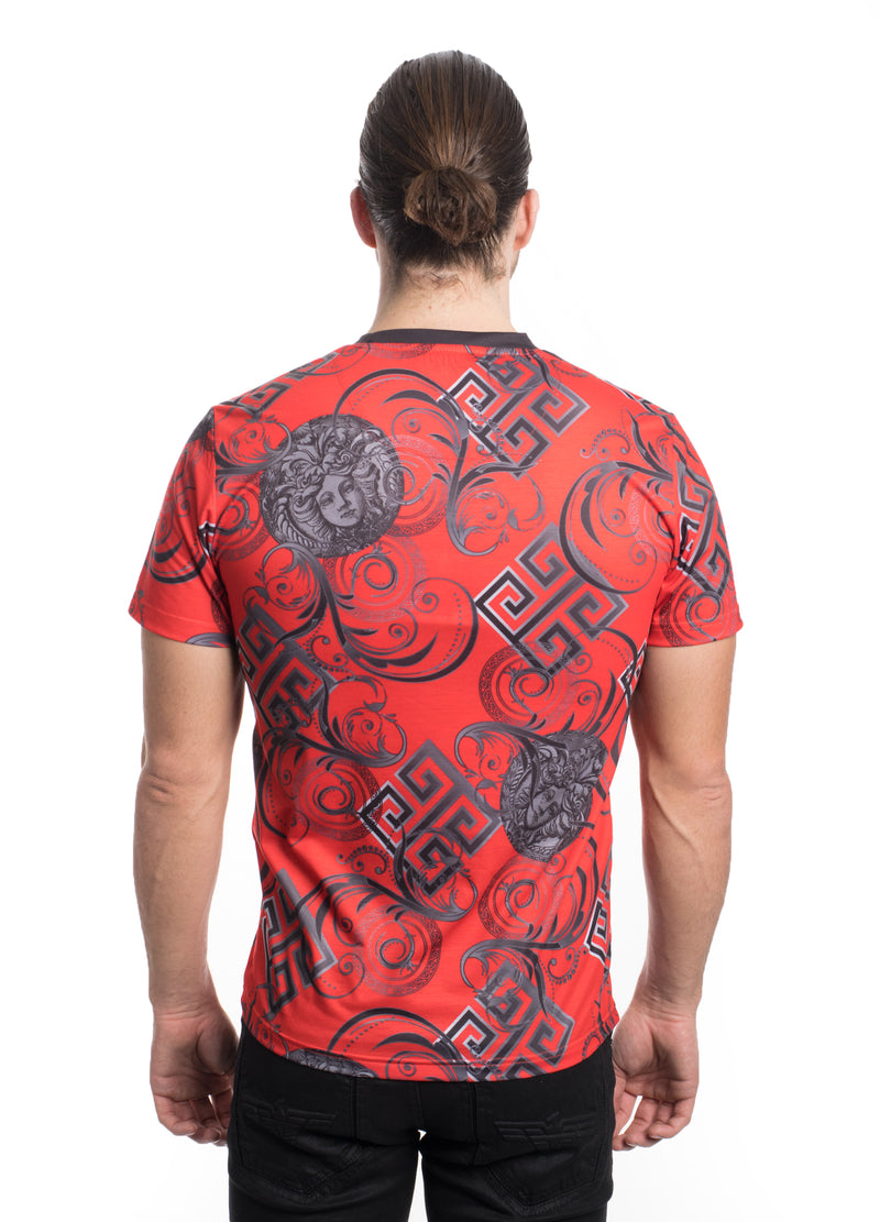 VTK-20-4RED   MEN'S PRINTED TEE SHIRT 6PK