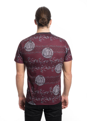 VTK-20-5BURG   MEN'S PRINTED TEE SHIRT 6PK