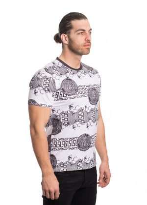VTK-20-5WHITE/GREY   MEN'S PRINTED TEE SHIRT 6PK