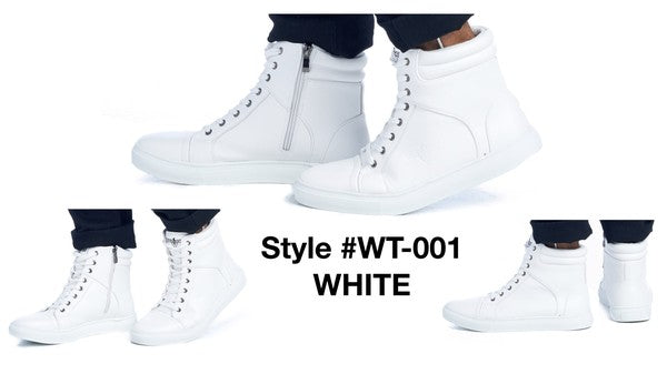 WT-001 WHITE COMFORTABLE SNEAKERS 12 PAIRS